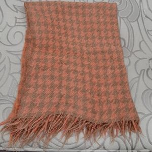 Vintage wool throw blanket 39 by 48 inches